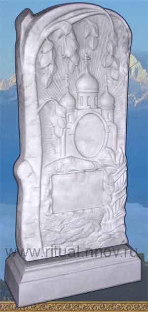 фото Памятники ритуальные из кевларобетона, стела Берёзка с подставкой