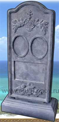 фото Памятники ритуальные из кевларобетона, стела Два овала с подставкой.