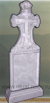 фото Памятники ритуальные из кевларобетона, стела Крест ажурный с подставкой